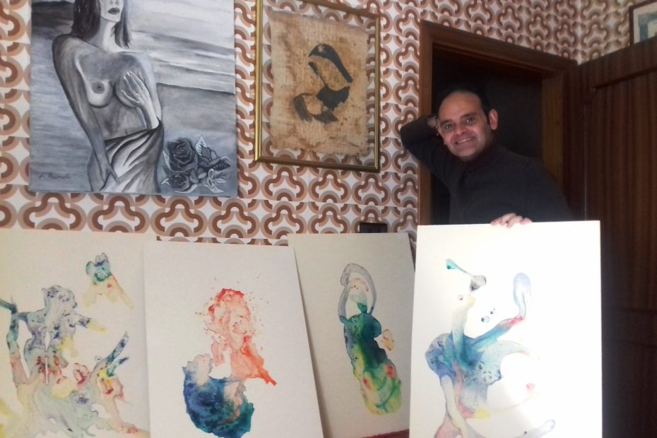 Giuseppe and his artworks